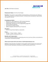 Cnc Resume Free Resume Example And Writing Download