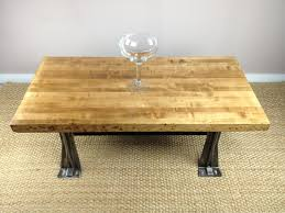 diy custom square low coffee table using reclaimed wood top and black metal legs for small spaces rustic living room ideas