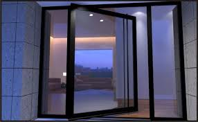 Exellent Modern Glass Front Door And Doors A With Inspiration Decorating