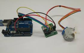 a stepper motor much like a dc motor has a rotating permanent magnet propelled by stationary electrical magnets however the motion is divided into a