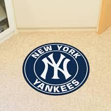 new york yankees roundel area rug nylon