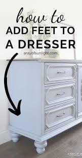 adding legs to a dresser furniture