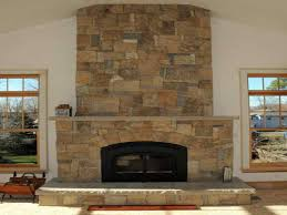 nice fireplace with stone veneer awesome ideas
