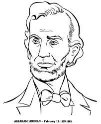 Small Picture Abraham Lincoln A Head Figure of Abraham Lincoln Coloring Page