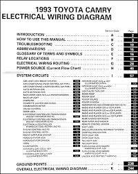 1993 toyota camry wiring diagram manual covers all 1993 toyota camry models including deluxe le xle and se this book measures 11 x 8 5 and is 0 38 thick buy now for the best electrical