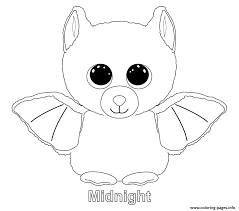 Print Midnight Beanie Boo Coloring Pages