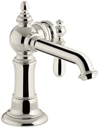kohler single hole bathroom faucet. KOHLER K-72762-9M-SN Artifacts Single-handle Bathroom Sink Faucet, Vibrant Polished Nickel - Amazon.com Kohler Single Hole Faucet