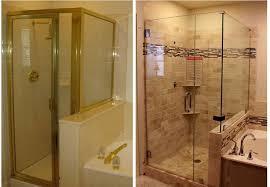 image of frameless glass shower door enclosures