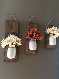 fall office decorating ideas. i think this is a great rustic decor idea mason jars as wall sconces fall office decorating ideas m