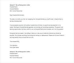 Nurse Resignation Letter Stunning Sample Rn Resignation Letter Platformeco