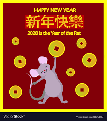chinese new year card 2020 happy chinese new year greeting card 2020 rats of