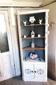 Shabby Chic Corner Shelves Gorgeous Gorgeous Cream And Grey Solid Pine Shabby Chic Corner Shelfunit