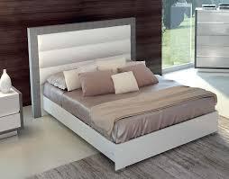 white modern platform bed. Tuscany Taupe \u0026 White Modern Platform Bed