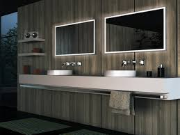 contemporary bathroom lighting supported with mirrors