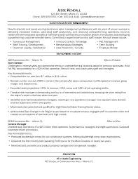 Resume Examples Retail Manager Sample Management Resumes Sales