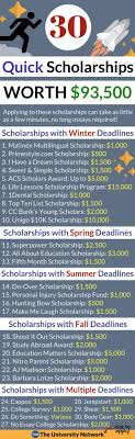 quick scholarships worth the university network pin it scholarship guru