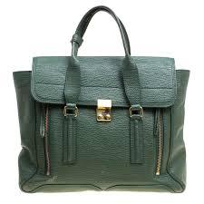 3 1 Phillip Lim Size Chart 3 1 Phillip Lim Green Leather Large Pashli Top Handle Bag