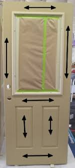 stain sequence for staining a fiberglass door