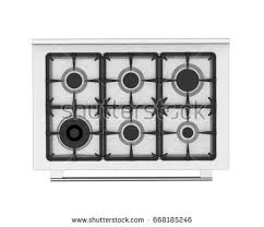 Gas Stove Isolated Top View 3 D Stock Illustration 668185246
