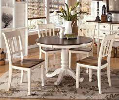 round white dining room table inside interior chic rustic with brown top combine prepare 8
