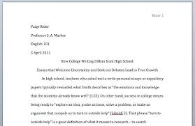 Writing An Essay In Mla Format Essay Written In Mla Format How To Start A Paper Style Format Paper