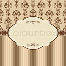 Vintage Card With Damask Wallpaper Stock Vector Colourbox