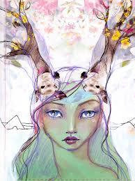 dear artist dear deer by davenport art print love davenport
