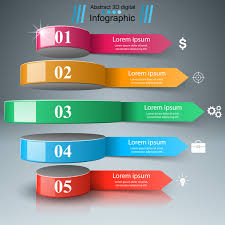 Whirligig 3d Arrows Infographic Vector Free Download