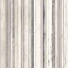 Fine Dcor Grey Wood Stripe Wallpaper