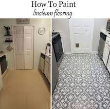 how to paint linoluem flooring to look like cement tiles floor paint