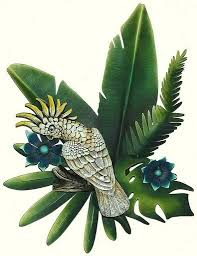 on metal wall art decor tropical with tropical bird fish and sun wall art tropical themed wall decor