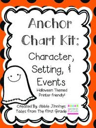 Character Setting Events Anchor Chart Worksheets Teaching