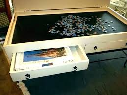 jigsaw puzzle table coffee puzzles ideal for home diy hardwood top board