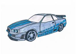 nissan skyline fast and furious drawing. Skylin Gtr Fast And Furious Inside Nissan Skyline Drawing