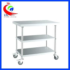 stainless steel kitchen utility table with locking casters detachable 3 layer work t