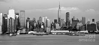new york city skyline photograph new york city skyline with empire state black and white