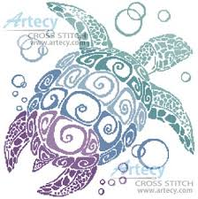 Turtle Pattern Delectable Turtle Silhouette [48] Artecy Cross Stitch Cross Stitch Chart