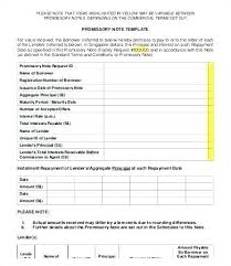Promissory Note Word Template Business Promissory Note Template Template Free Promissory