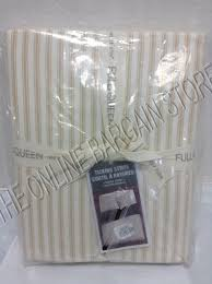 details about pottery barn west elm ticking stripe bed duvet cover full queen fq horseradish