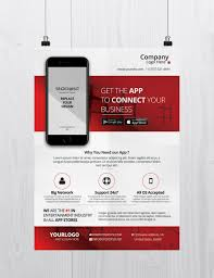 Free Flier Template Download Mobile App Business Psd Flyer Template For Free