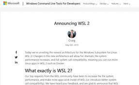 速報windows上でフル互換のlinuxシステムコールを実現するwsl 2