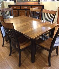 palettes by winesburg blkelm two toned dining table item number 4260a palettes furniture n15 furniture