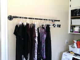 Industrial Pipe Coat Rack Clea Pipe Clothes Rack Racks And Coat Pertaining To Galvanized 93