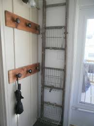Old Door Knob Coat Rack repurposed old ladder and old door knob DIY project The Recycled 61