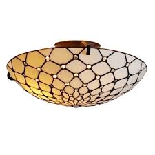 amora lighting tiffany style 2 light jeweled pendant ceiling fixture lamp 17 in wide