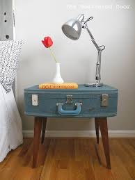 View in gallery Blue suitcase nightstand