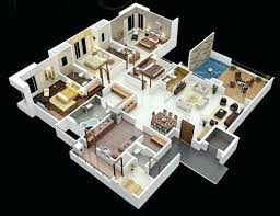 House Plan 3d 3 Bedroom House Plans Design 9 2030 House Plan Images ...