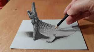 3d painting on paper painting pencil 3d painting on paper with pencil drawing hole trick