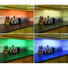 shelf lighting strips. colour changing led kitchen under cabinet lighting set includes 2 x 50cm strips shelf lighting strips
