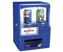 Vending Machine Fridge Beauteous Koolatron VF48 Blue 48 Can Vending Fridge Blue